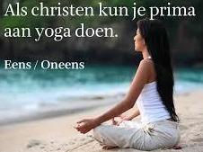 Yoga als christen kan niet