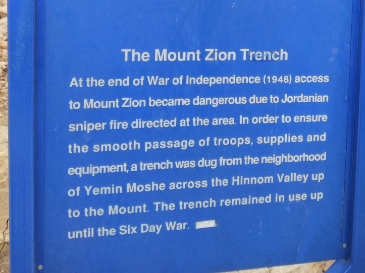 The Mount Zion Trench